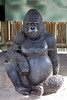 One of the life size Gorilla statues.